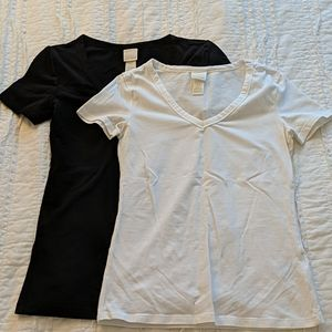 H&M Black & White T-shirt Set XS